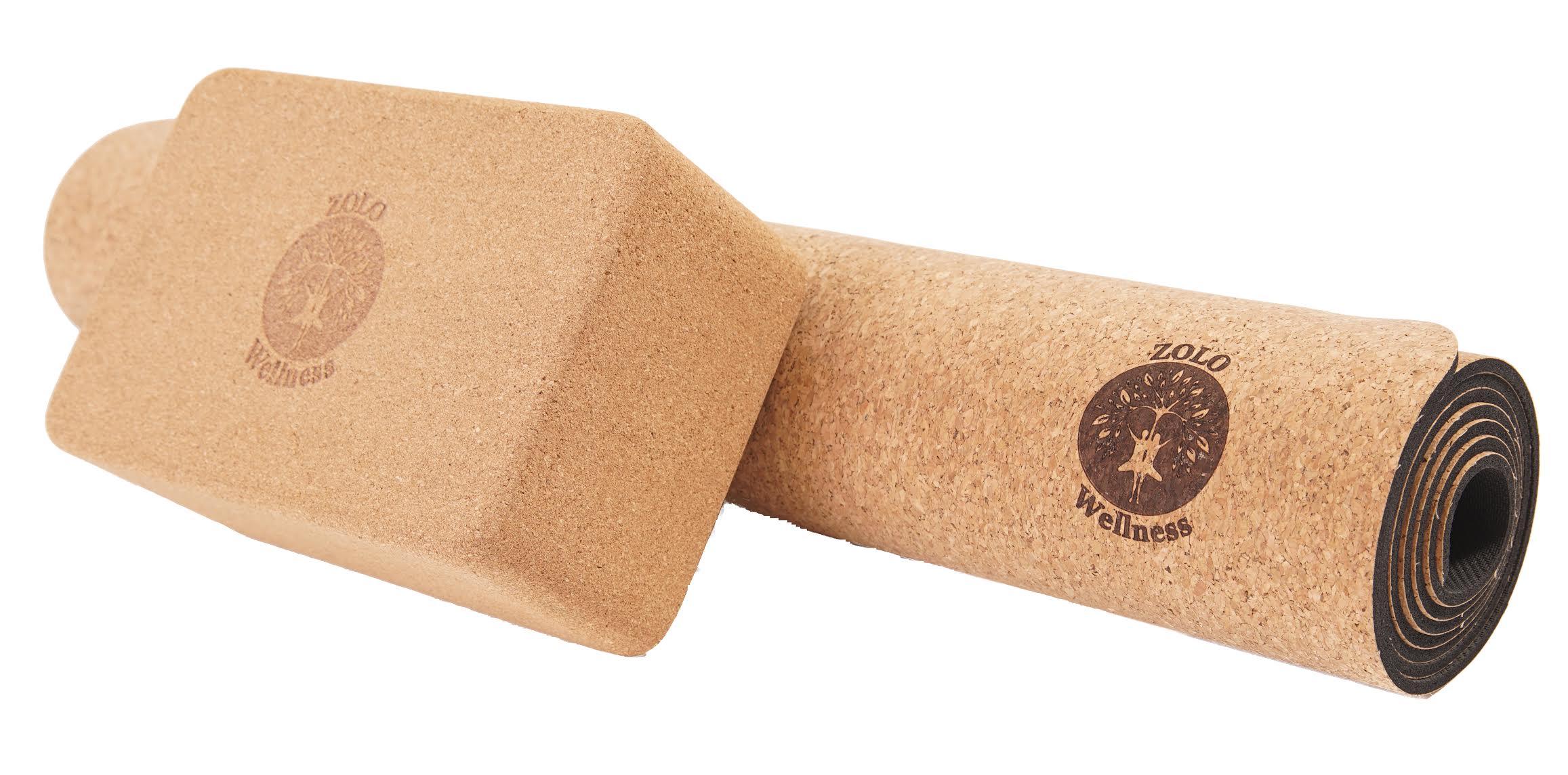 ab cork gym yoga mirafit mat mandala sentinel fitness non mats natural printed slip exercise pilates floor itm